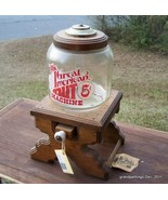 Vintage Great American Nut Machine! 5 Cents! Glass and Wood! Lot # 79 OBO - $125.00