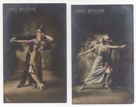 C.1910 German Antique Photo / Postcard RPPC ( 2 ) Dance Brazilian Tango ... - $16.00