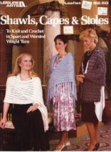 Shawls, Capes & Stoles Knit & Crochet Leisure Arts 441 - $3.50