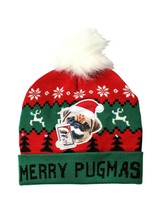 Holiday Time Women's Light Up Holiday Beanie Hat Merry Pugmas Red Green ... - $12.86