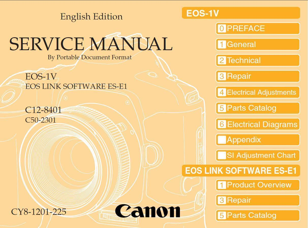 canon eos 1v slr camera service repair manual and 10 similar items rh bonanza com canon eos 1v service manual Cannon EOS 1