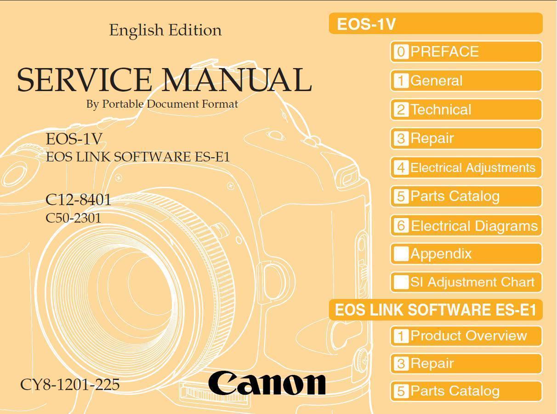 ... Slr Camera Service Repair Manual and similar items. Canon eos 1v