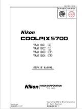 NIKON COOLPIX 5700 DIGITAL CAMERA SERVICE REPAIR MANUAL - $7.95
