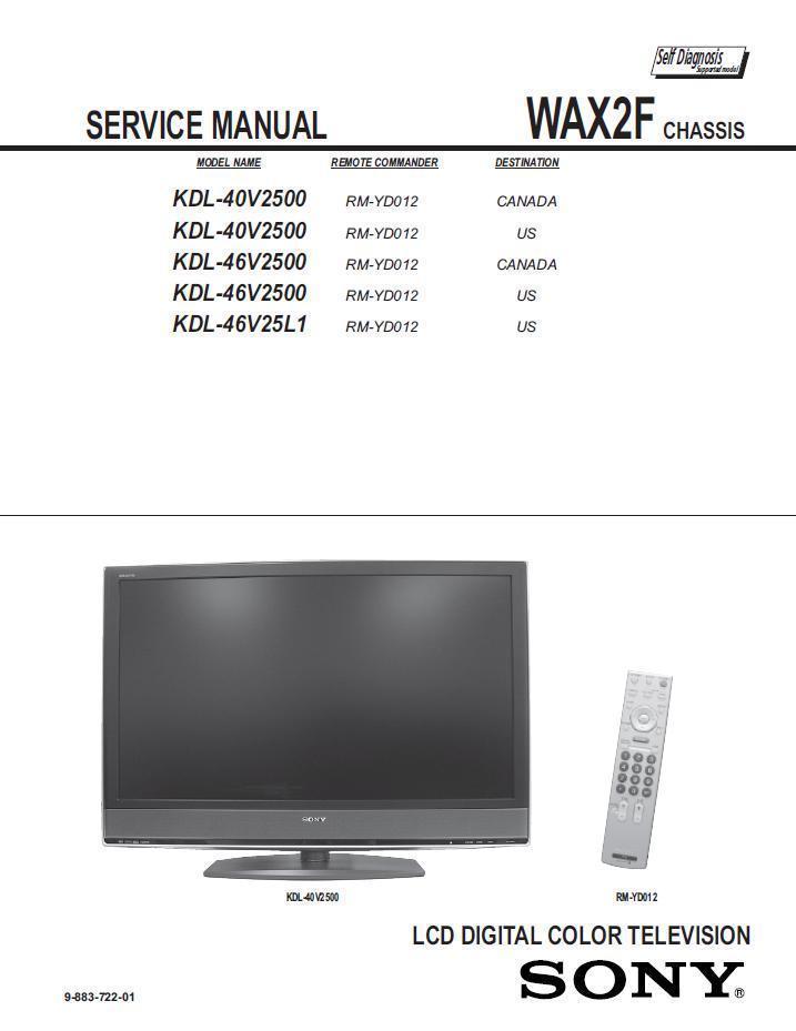sony kdl 40v2500 kdl 46v2500 kdl 46v25l1 and 50 similar items rh bonanza com Sony KDL 46V2500 Sony KDL 40V2500 Back Panel