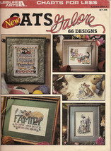 Cats Galore  66 Designs Leisure Arts Leaflet No 2821  - $5.00