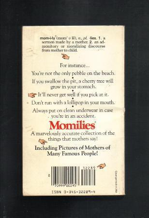 Momilies, As My Mother Used to Say...Michelle Slung, Paperback Book, 1988