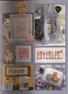 Cats Galore  66 Designs Leisure Arts Leaflet No 2821