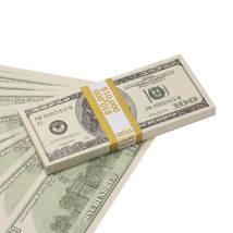 PROP MOVIE MONEY - 2000 Series $100 Full Print Prop Money Stack - $14.00