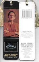 Star Trek Deep Space Nine Odo Photo Tasseled Laminate Bookmark 1993 NEW UNUSED - $4.99