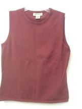 Women's Eddie Bauer Dark Pink Sleeveless Tank Top Size S Small - $14.95