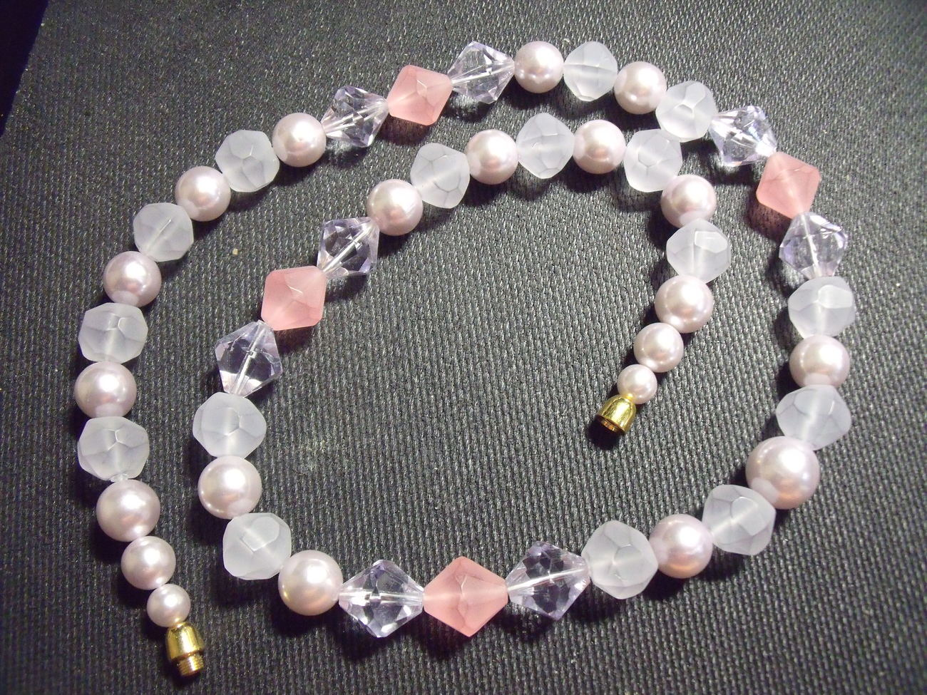 Interesting Multi faceted bead necklace