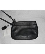 NWT Coach Leather purse wristlet handbag clutch wallet 45651 black  - $40.99