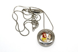 Bracciale Disney Round Locket Necklace Floating Snow White Ariel Floating Charms - $24.74