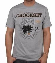 Crooks & Castles Homme Tricot Gris Bruyère Crookset Poche T-Shirt Nwt