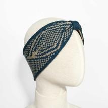 Blue Diamond Design Knitted Bowtie Headband for Fall & Winter - $13.09