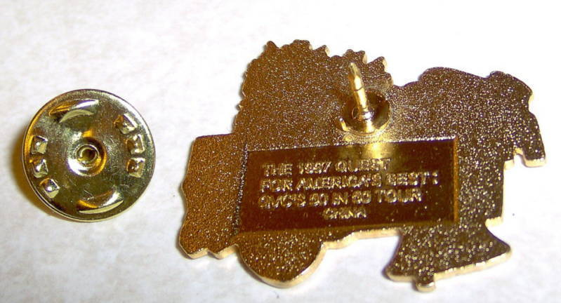 1997 Quest Pennsylvania 50 in 50 QVC Hat Lapel Pin