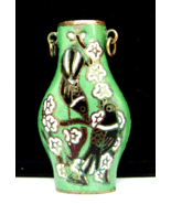 Vintage Japanese Cloisonne  Perfume  Green Blac... - $19.00