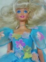 Vintage 1975/1978 Mattel Barbie Doll  Fancy Floral Blue Sparkly Dress  - $24.99