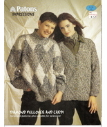 Diamond Pullover and Cardi Patons Impressions No 1138 - $3.00