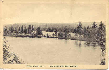 Ny, Star Lake. Birdseye view post card