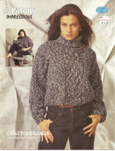 Cabled Turtleneck Patons Impressions No 1137 - $3.00