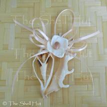 Seashell Christmas Ornament Real Center Sliced Shell with Seashell Flowe... - $11.99