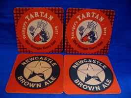 Youngers Tartan English Newcastle Ale Beer Coasters Set of 4 - $6.99