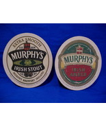 Murphys Irish Stout Ale Ireland Beer Coasters Set of 2 - $4.99