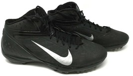 Nike Men's Black and Silver Alpha Football Cleats Sz 14. - $16.22
