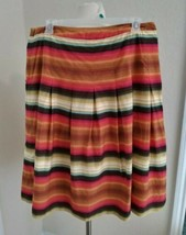 Talbots Size 12 Colorful Southwest Hippie Flare Skirt Pleated - $16.83