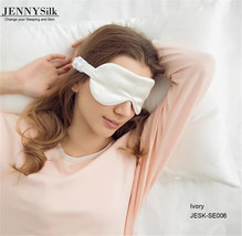Ivory silk eye mask 100% mulberry silk 16mm - $11.99