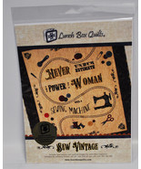 Never Underestimate The Power Of A Woman With A Sewing Machine Quilt Pat... - $49.50