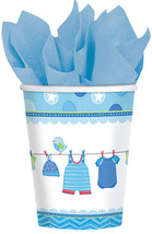 Amscan Baby Boy Disposable Paper Cups, 9 oz.,  Blue - $23.19
