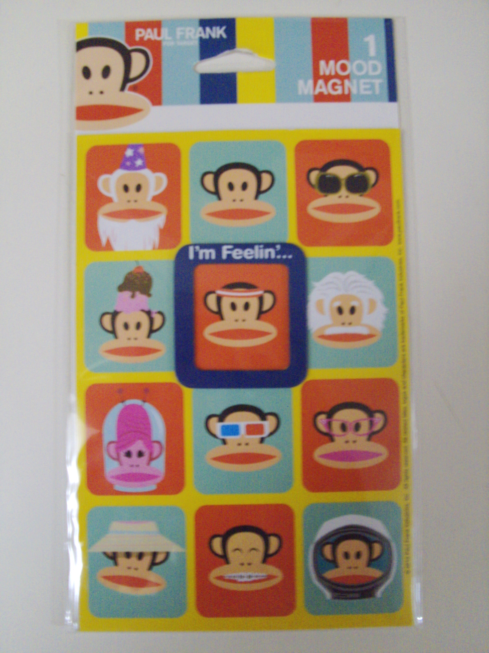 Paul Frank Industries Julius the Monkey Mood Magnet - New