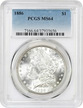 1886 $1 PCGS MS64 - Morgan Silver Dollar - $82.45