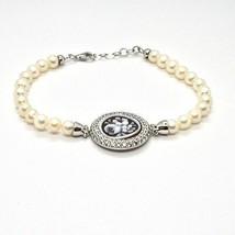 Armband 925 Silber mit Perlen Wasser Dolce Kamee Kamee Zirkonia Kubische - $218.95