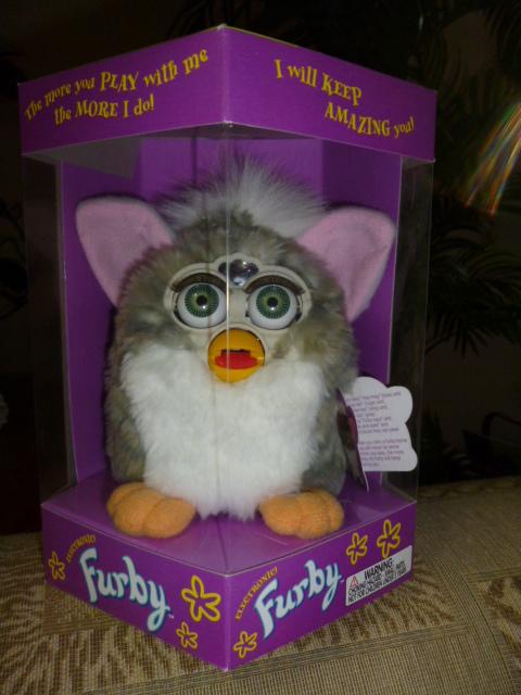 Original 1998 FURBY Church Mouse Furby Green Eyes NRFB NEW IN BOX