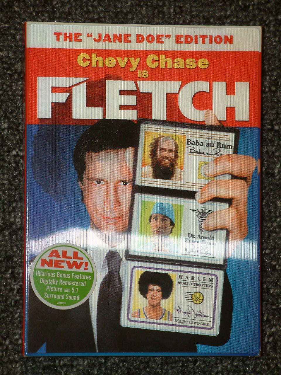 Fletch The Jane Doe Edition DVD in hologram case Chevy Chase