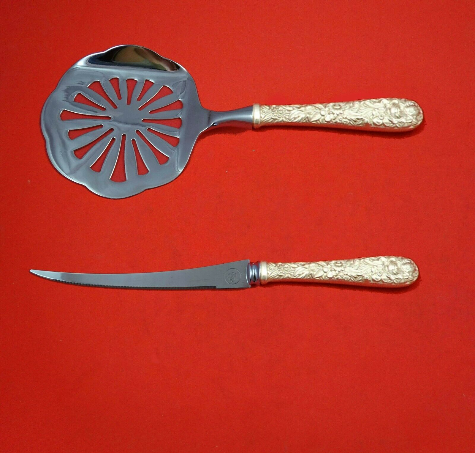 Primary image for Repousse by Kirk Sterling Silver Tomato Serving Set 2-Piece HHWS Custom Made
