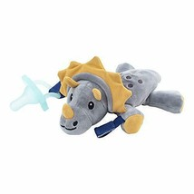 Dr. Brown's Lovey Pacifier and Teether Holder, Triceratops with Teal  - $16.73