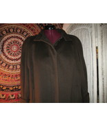 Vintage Alorna pure wool winter coat Olive green full length USA made large - $100.00