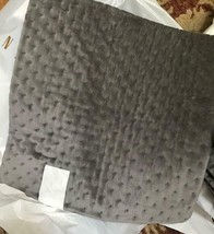 Pottery Barn Cross Stitch Pillow Cover Gray 18 sq Velvet Accent Flagston... - $49.50