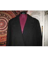 Vintage Donnybrook pure wool coat Black double breasted Winter dress jac... - $130.00