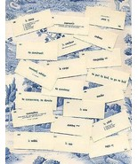 Vocabulary Cards 30 French English Mixed Media Art Supplies - $8.99