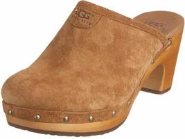 NIB UGG Australia Genuine Sheepskin Abbie Clog Sandals, Chestnut, Size 8 M US - $138.59
