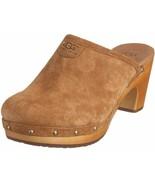 NIB UGG Australia Genuine Sheepskin Abbie Clog Sandals, Chestnut, Size 8... - $138.59