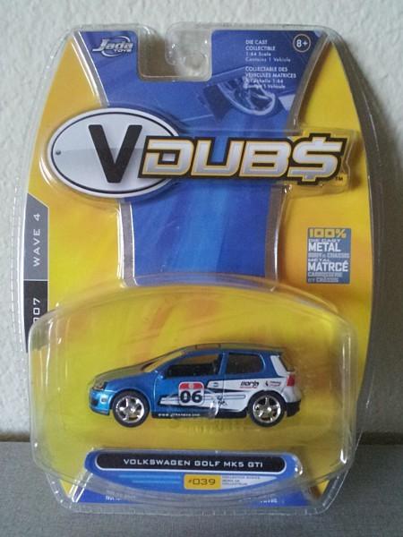 VDUBS Volkswagen GOLF GTI MK5 1:64 scale diecast toy Jada