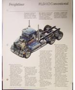1990 Freightliner FLD112 Specifications Sheet Brochures - Lot of 2 - $8.00