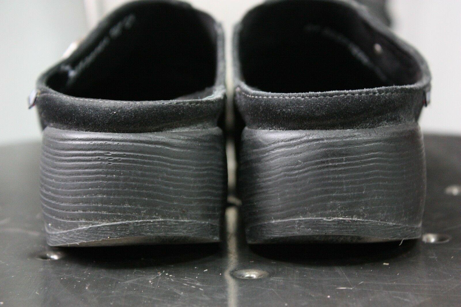 Mephisto leather clogs US 8 EU 5.5 grace pro slides leather suede sandals black