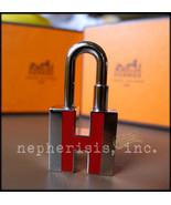 AUTH NIB Hermes NEON Silver Lock Charm Cadena ROUGE H - $450.00